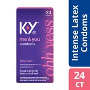 K-y® Intense Latex Condoms, Discreetly Packaged With Silicone-Based Lubricant