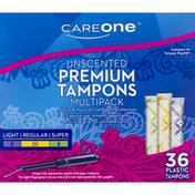 CareOne Tampons, Premium, Unscented, Multipack