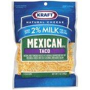Kraft Mexican Style Taco Made W/2% Milk Shredded Cheese