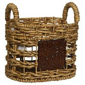 Glory International Trading Baskets, Small, with Ceramic Decor