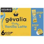 Gevalia Vanilla Latte Espresso K-Cup Pods & Froth Packets