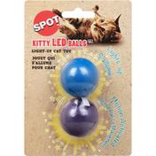 SPOT Cat Toy, Light-Up, Kitty LED Balls
