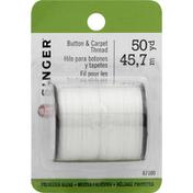 Singer Thread, Button & Carpet, Polyester Blend, 50 Yard