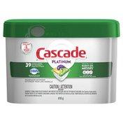Cascade Platinum ActionPacs Dishwasher Detergent, Lemon Burst