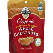 Season Brand Chestnut, Organic, Roasted & Shelled, Whole