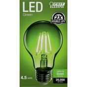 Feit Electric Light Bulbs, LED, Green, 4.5 Watts