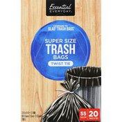 Essential Everyday Trash Bags, Twist Tie, Super Size