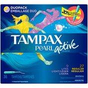 Tampax Pearl Active Light/Regular Duopack Tampons