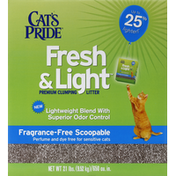 Cat's Pride Premium Clumping Litter, Fragrance-Free Scoopable