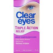 Clear Eyes (CN)  Triple Action Relief,  Soulagement Triple-Action