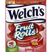 Welch's Fruit Rolls, White Grape Strawberry