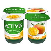 Activia Low Fat Probiotic Mango Yogurt