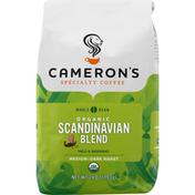 Camerons Coffee, Organic, Whole Bean, Medium-Dark Roast, Scandinavian Blend