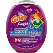 Gain flings! Scent Duet Liquid Laundry Detergent Pacs, Wildflower & Waterfall