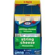 Kraft Low-Moisture Part-Skim Mozzarella String Cheese Sticks