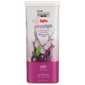 Hy-Vee Simplylight, Grape Sugar Free, Low Calorie Drink Mix