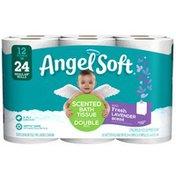 Angel Soft Bath Tissue 12 Double 242CT Lavender