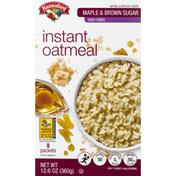 Hannaford High Fiber Maple Brown Sugar Oatmeal