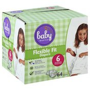 Baby Basics Diapers, Flexible Fit, 6 (35 lb & Over)