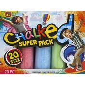 Chalked Chalk, 5 Colors, Super Pack