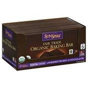 Sunspire Baking Bar, Organic, Fair Trade, Unsweetened Chocolate
