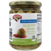 Hannaford Stuffed Manzanilla Spanish Olives