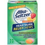 Alka-Seltzer Heartburn ReliefChews Strawberry & Orange Chewable Tablets Antacid