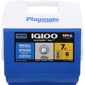 Igloo Cooler, Blue/White, 7 Quarts