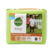 Seventh Generation Baby Size 4 Free & Clear Diapers - 30 CT