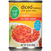 Food Club Original Diced Tomatoes With Green Chilies