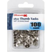 Oic Thumb Tacks, Silver