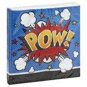 Creative Converting Napkins, Superhero Slogans, 2 Ply