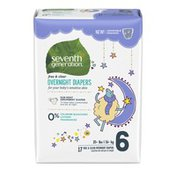 Seventh Generation Overnight Baby Diapers Stage 6, 35+ Lbs