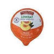 Friendly Farms Lowfat Blended Peach Greek Yogurt