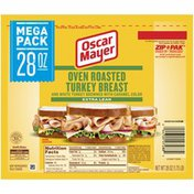Oscar Mayer Extra Lean Oven Roasted Turkey Breast Sliced Lunch Meat Mega Pack