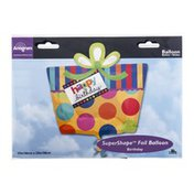 "Anagram Jumbo Foil Balloon 22"" Happy Birthday Present Big Dots"