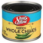 Shurfine Green Whole Chiles