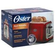 Oster Toaster, 2-Slice, Red Metallic