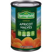 Springfield Unpeeled In Heavy Syrup Apricot Halves