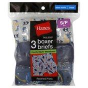 Hanes Boxer Briefs, Boys, S (6-8), Assorted Prints