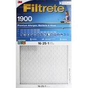 3M Air Cleaning Filter, High Perfromance, MPR 1900, Premium Allergen, Bacteria & Virus