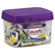 Cascade Dishwasher Detergent, Platinum, Lemon Burst Scent