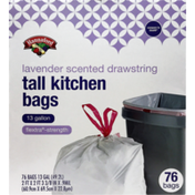 Hannaford Tall Kitchen Drawstring Bags w/Lavender Odor Guard