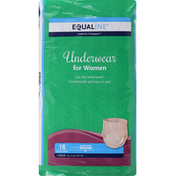 Equaline Underwear, for Women, Maximum Absorbency, Large