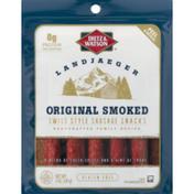 Dietz & Watson Sausage Snacks, Swiss Style, Gluten Free, Original Smoked, Landjaeger