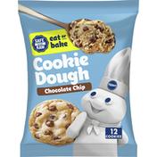 Pillsbury Ready To Bake Chocolate Chip Cookies, 12 Count