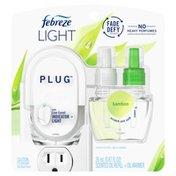 Febreze Fade Defy Plug Air Freshener, Bamboo, Starter Kit