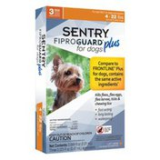 Sentry Pro Fiproguard Plus For Dogs & Puppies 4 22 Lbs. Topical Flea & Tick Treatment 3 Month Supply