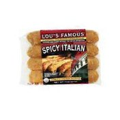 Lou's Famous Spicy Italian Skinless Chicken Sausage