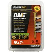 Power Pro Exterior Screw, Multi-Material, T25